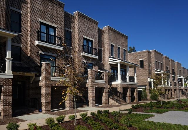 New brick townhomes near downtown Raleigh, NC