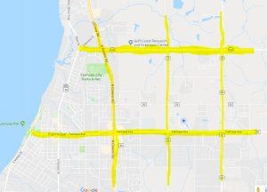 Fairhope Street Map Highlighting the Grid-Like Pattern