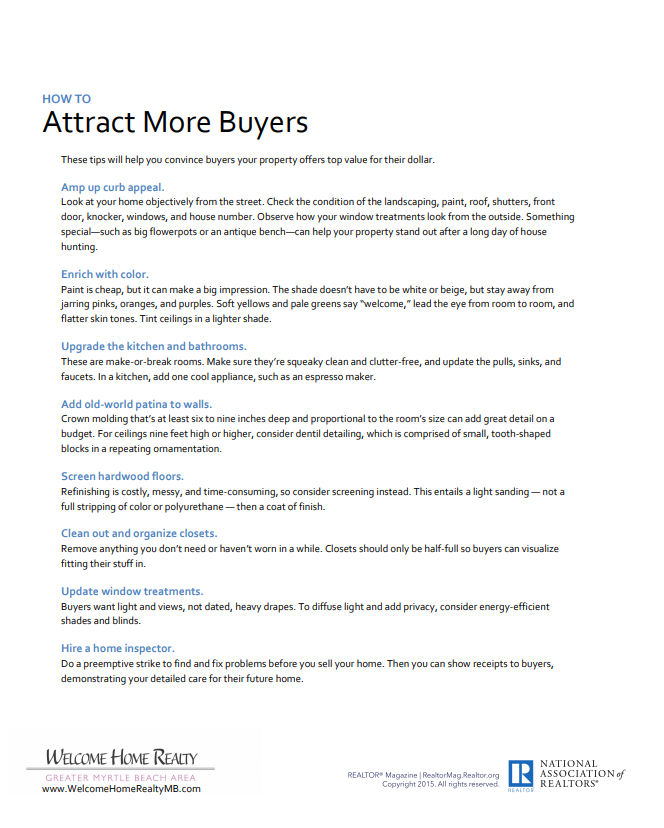 Attract Buyer Clients