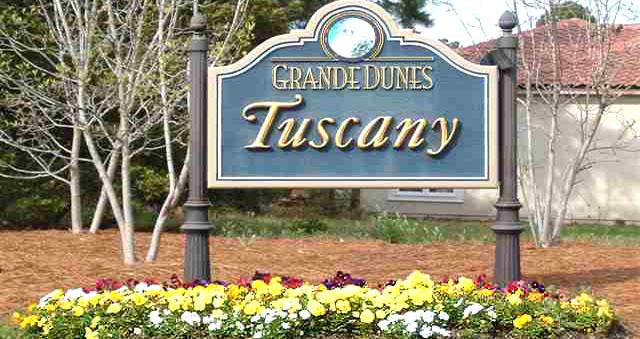Tuscany Grande Dunes Myrtle Beach SC
