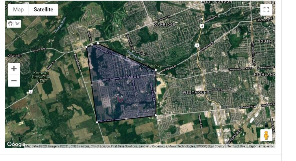 Byron London Ontario Neighbourhood Boundaries