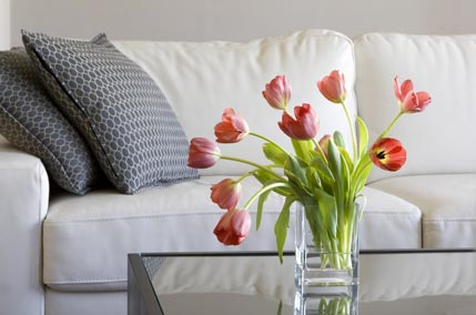 Flowers help sell a house