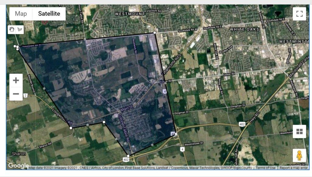 Lambeth, Talbot Village London Ontario Neighbourhood Boundaries