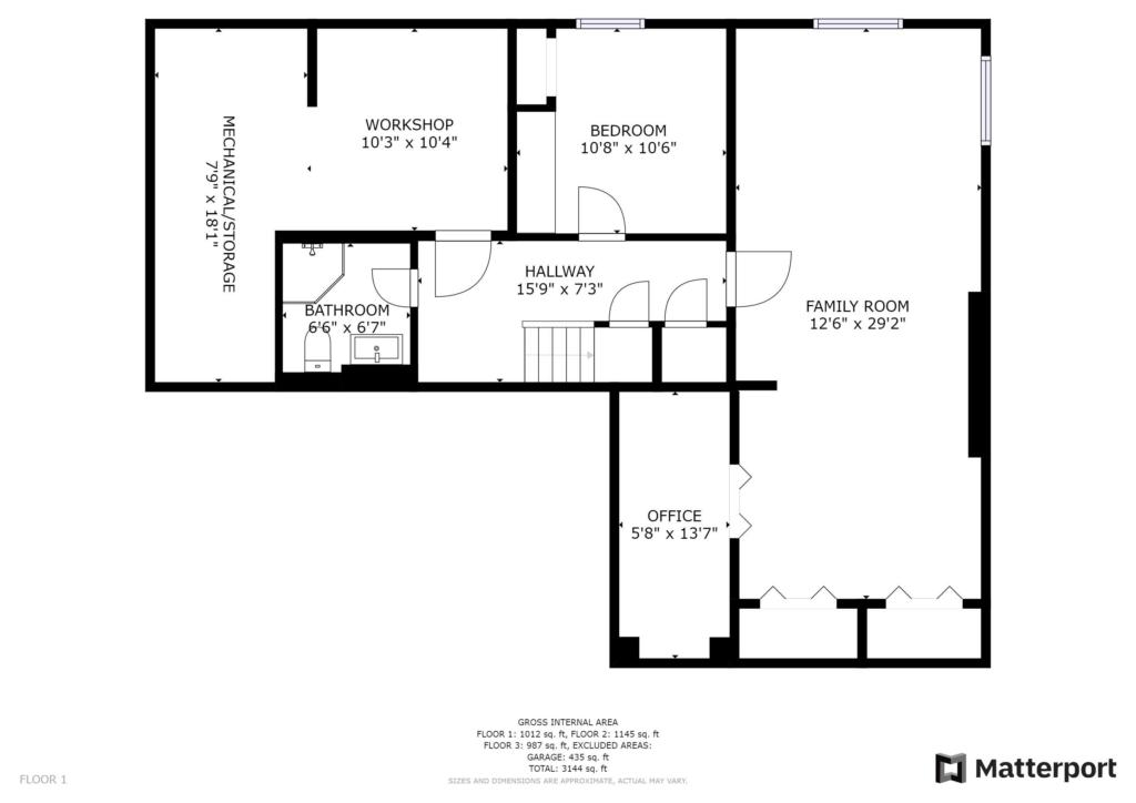 Lower Floor Plan 2 Gardenvale London Ontario