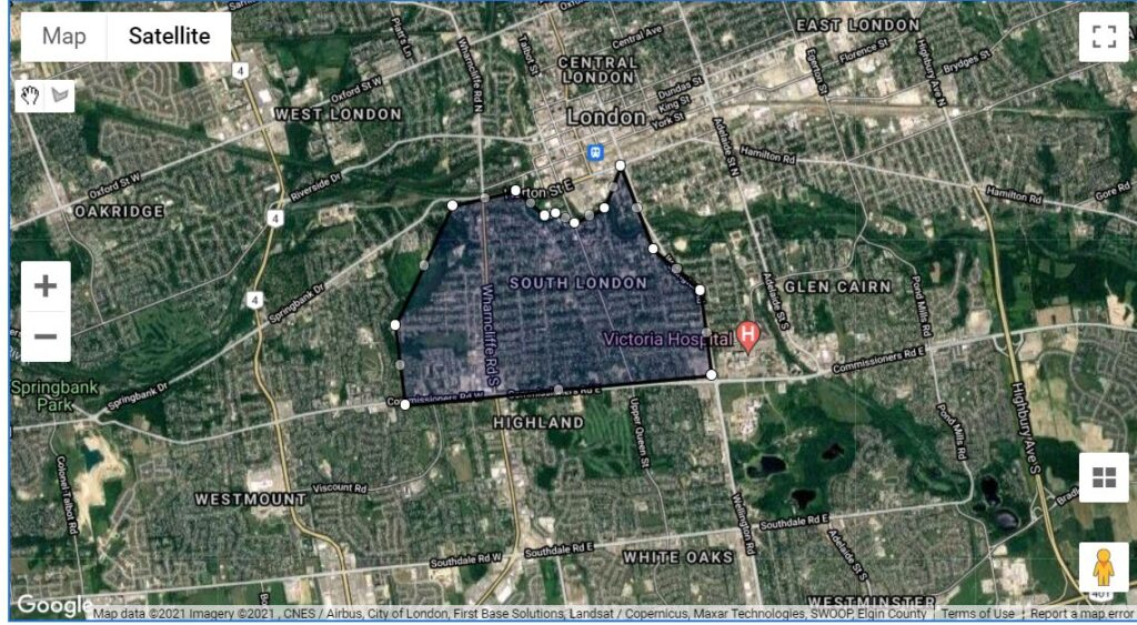 Old South London Ontario Wortley Village Neighbourhood Boundaries