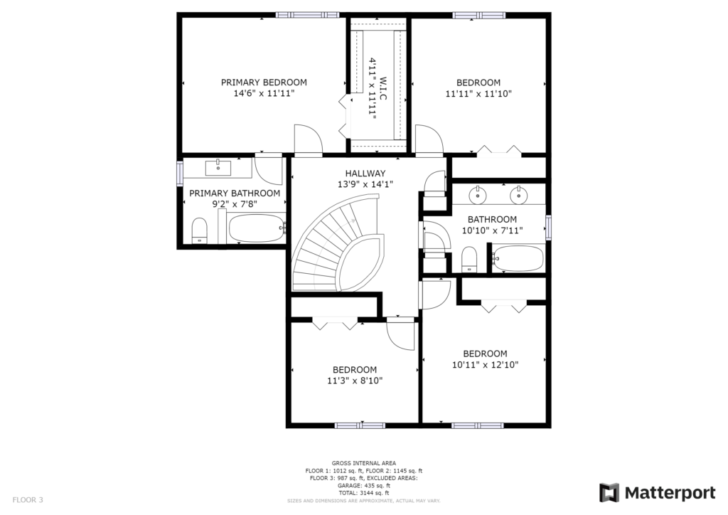Upper Floor Plan 2 Gardenvale London Ontario