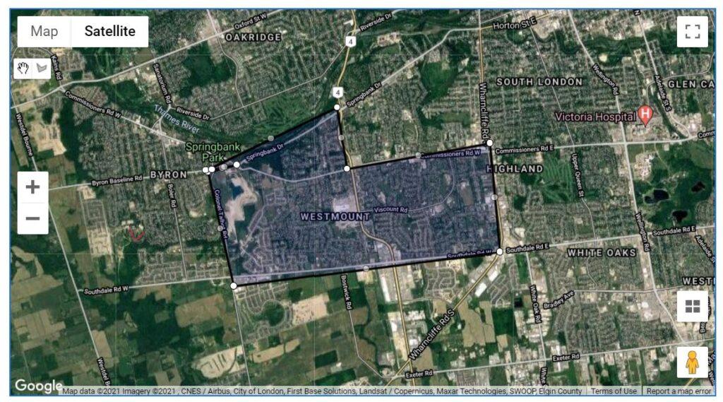 Westmount London Ontario Neighbourhood Map