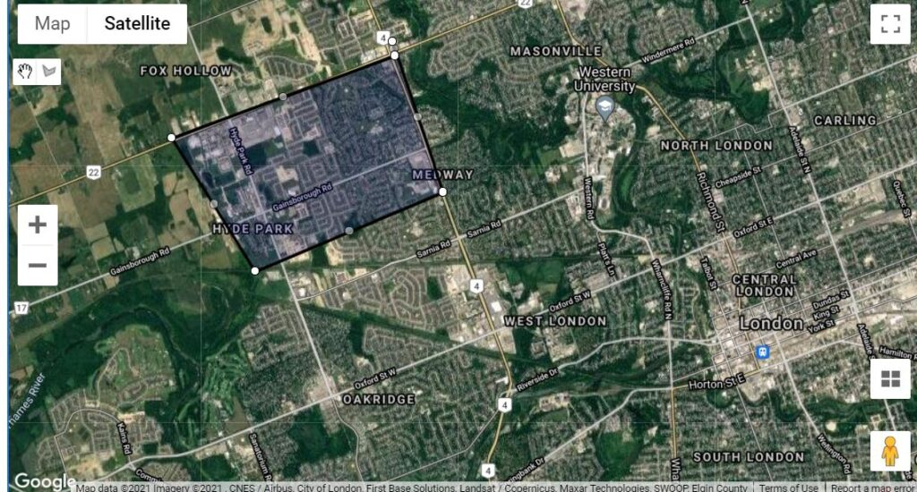 Hyde Park London Ontario Neighbourhood Map