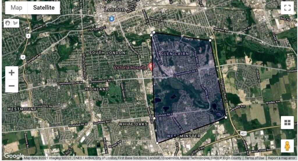 Pond Mills Glen Cairn London Ontario Neighbourhood Map