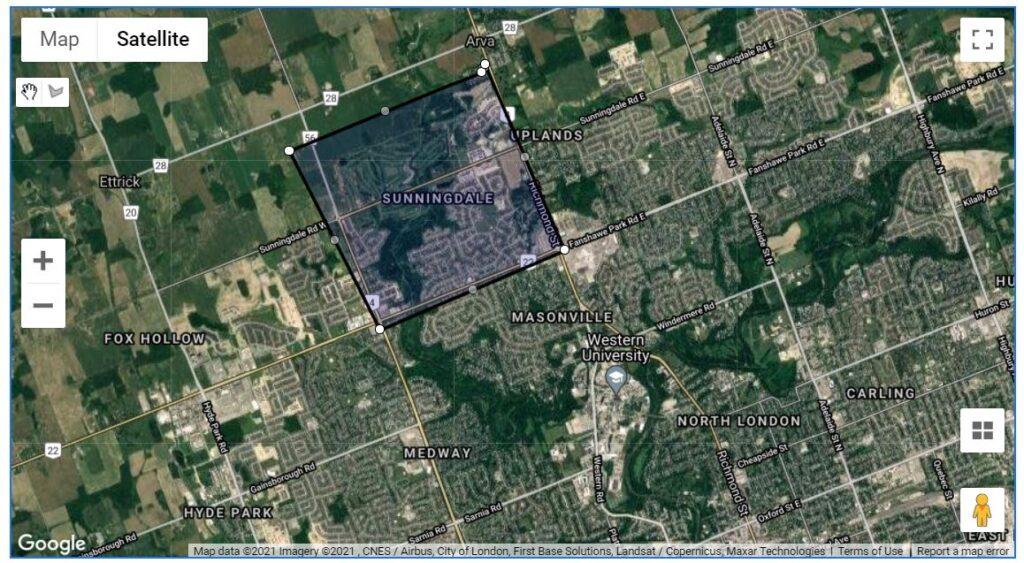 Sunningdale London Ontario Neighbourhood Map