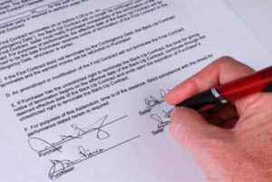 signing of a real estate transaction