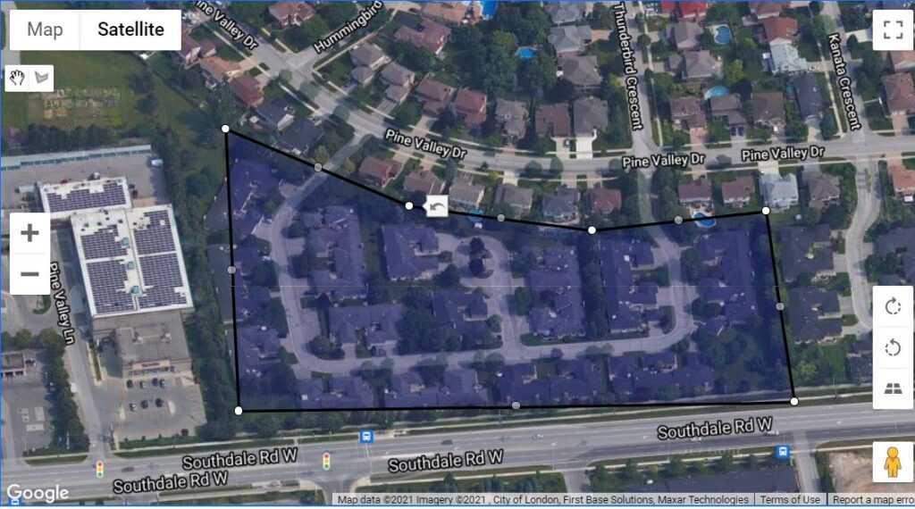 163 Pine Valley Drive London Ontario Townhouses Location Map