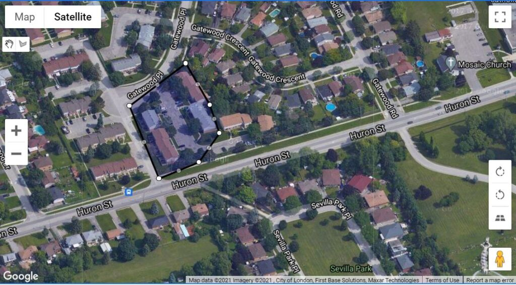 45 Gatewood Place London Ontario location of this townhouse condo corporation