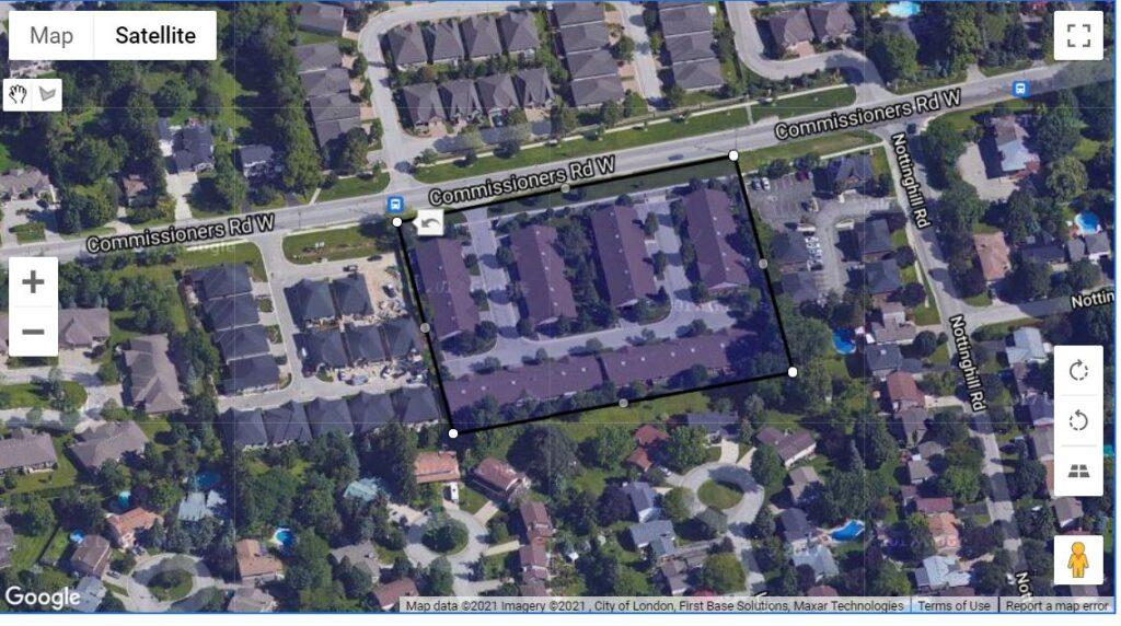 680 Commissioners Road W London Ontario Townhome location map