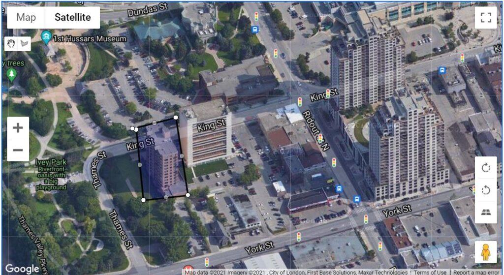 19 King Street London Ontario Location Map