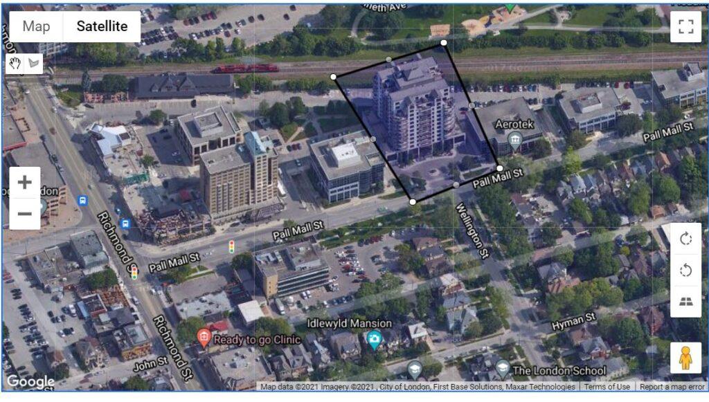 250 Pall Mall Street London Ontario Location Map