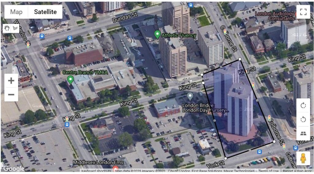 323 Colborne St and 363 Colborne St London Ontario apartment condos location in downtown London