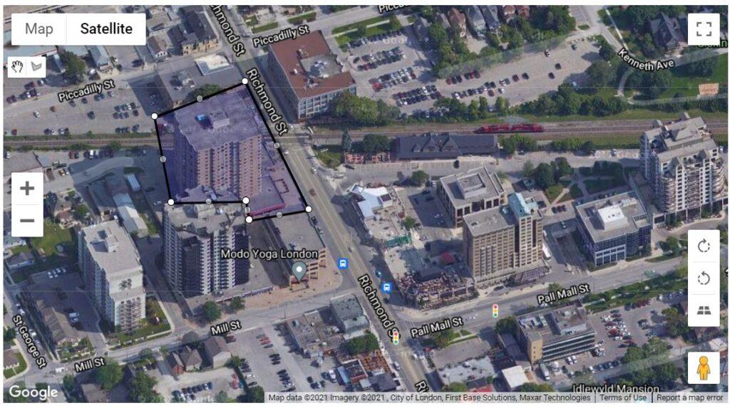 695 Richmond St London Ontario Location Map