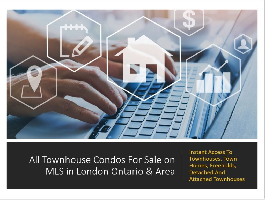 Instant Access to all the tonhouses and townhomes for sale on MLS in London Ontario & Area