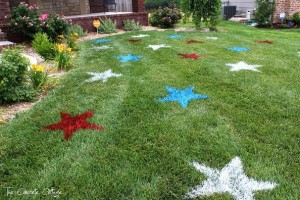 Patriotic Lawn Stars