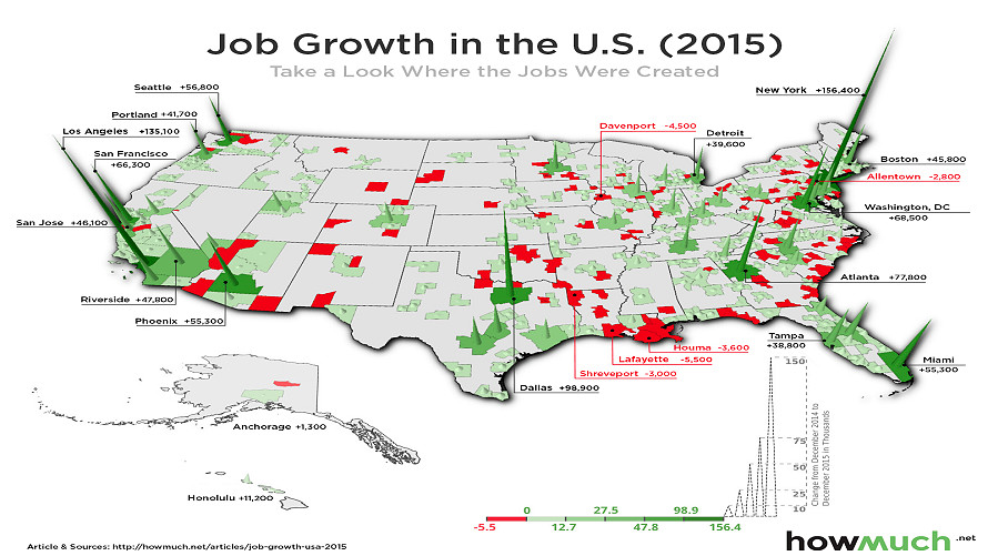 Map of Job growth