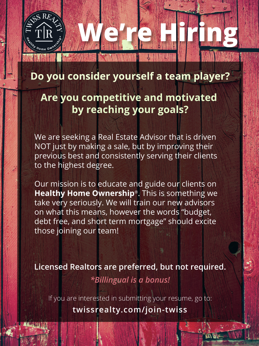 Twiss Realty is Hiring
