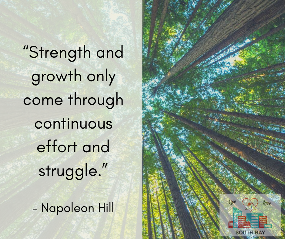Strength and growth inspirational quote