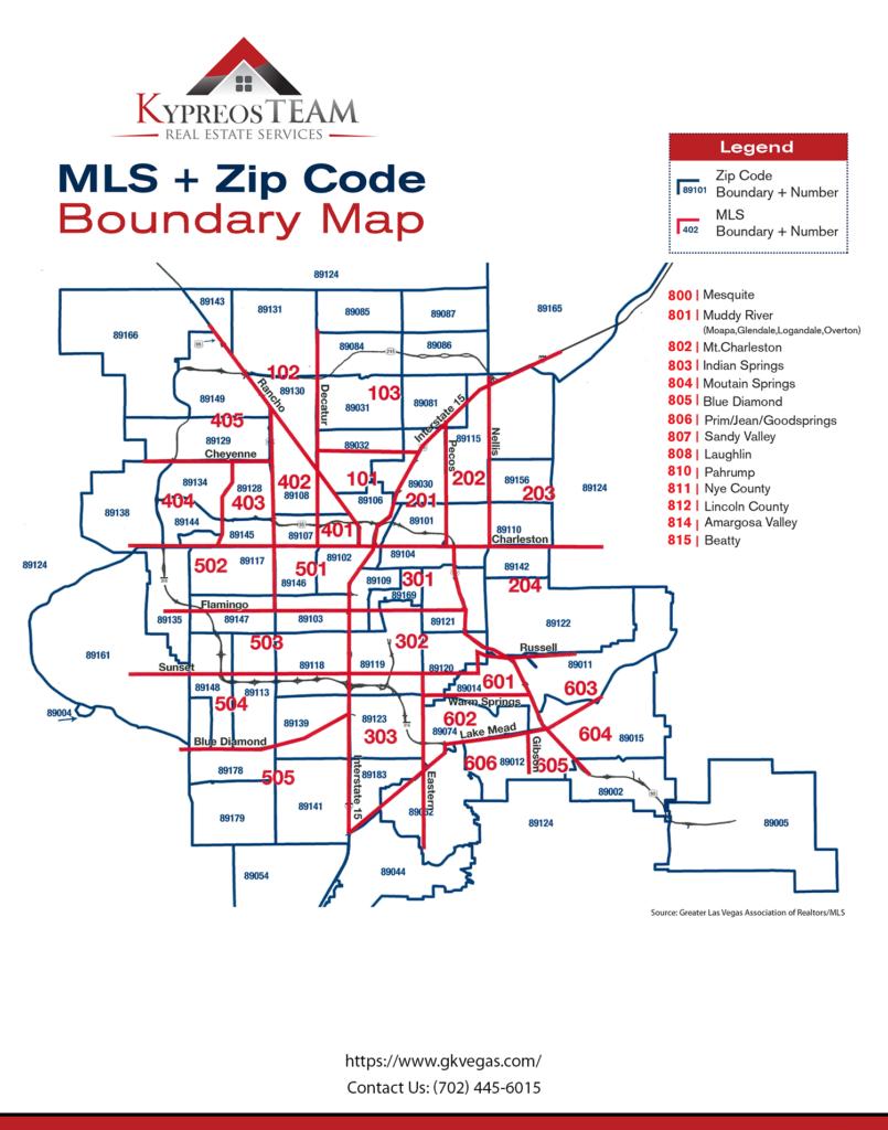 Las Vegas Zip Codes and MLS Areas