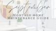 September Maintenance Guide
