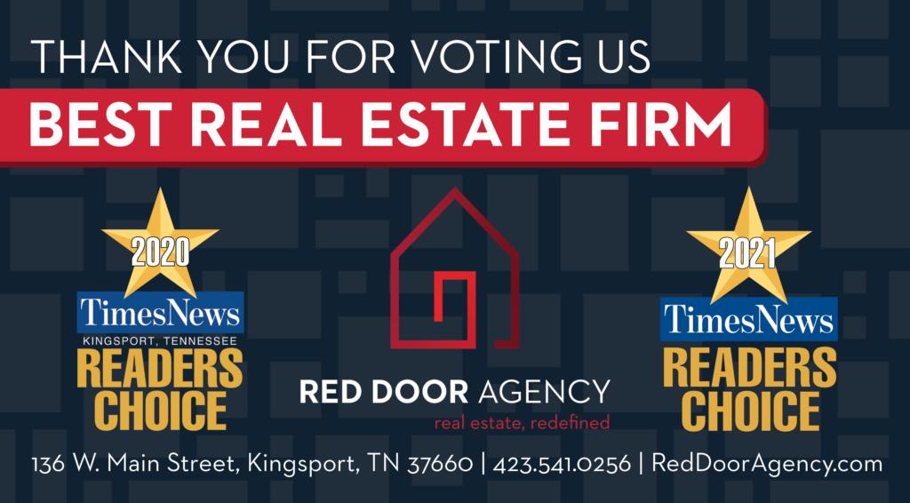 red door agency, readers choice, best of kingsport, realtor, real estate agency