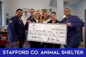Stafford co. animal shelter Give Back Team