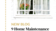 9 Home Maintenance Tips for Spring