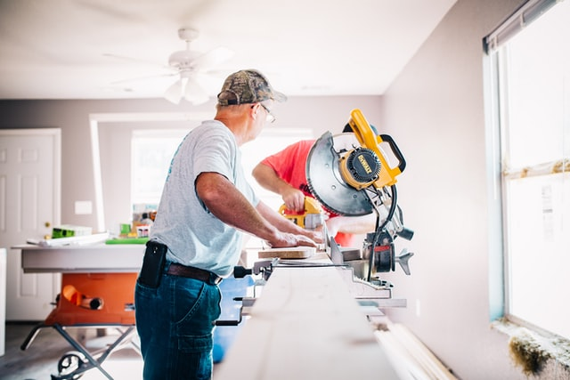 two men doing an elderly-friendly home renovation