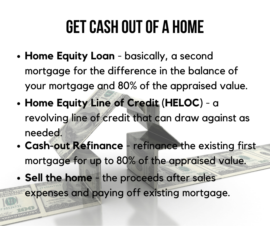 Get cash out of a home