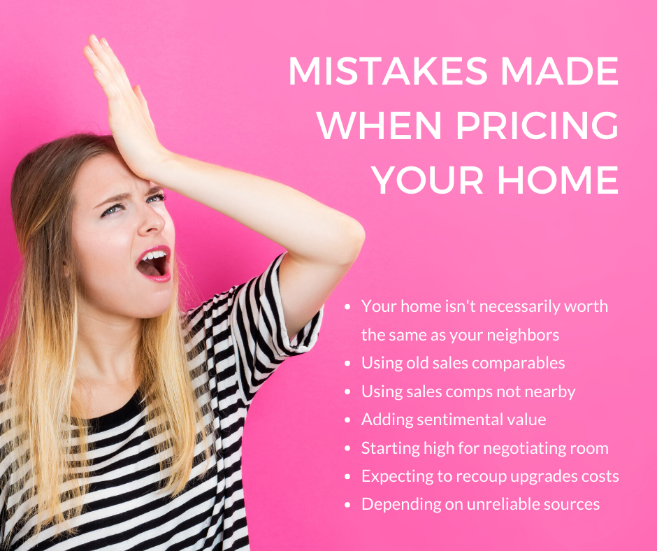 Mistakes Made when pricing your home