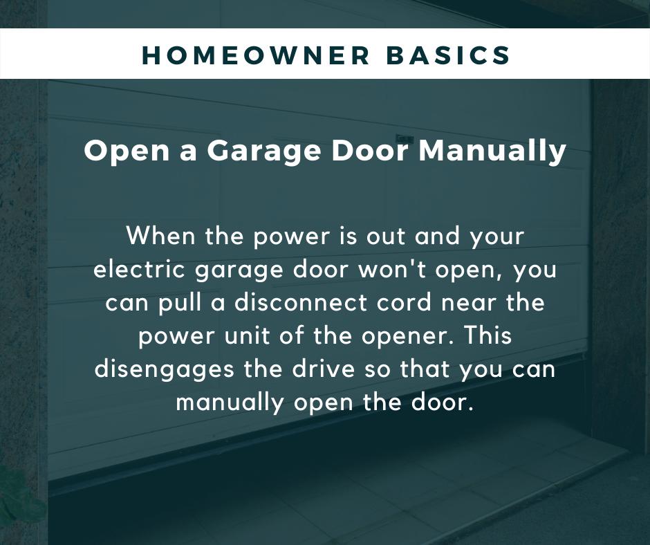 HB-garage door manually