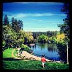 Mirror Pond in downtown Bend, Oregon