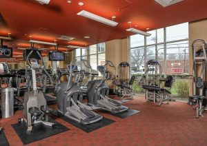 Gym and other great amenities at Jefferson Place
