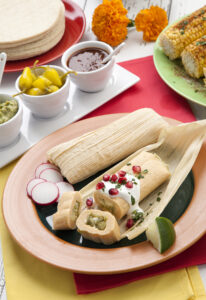 Palmdale West home owners eat tamales.