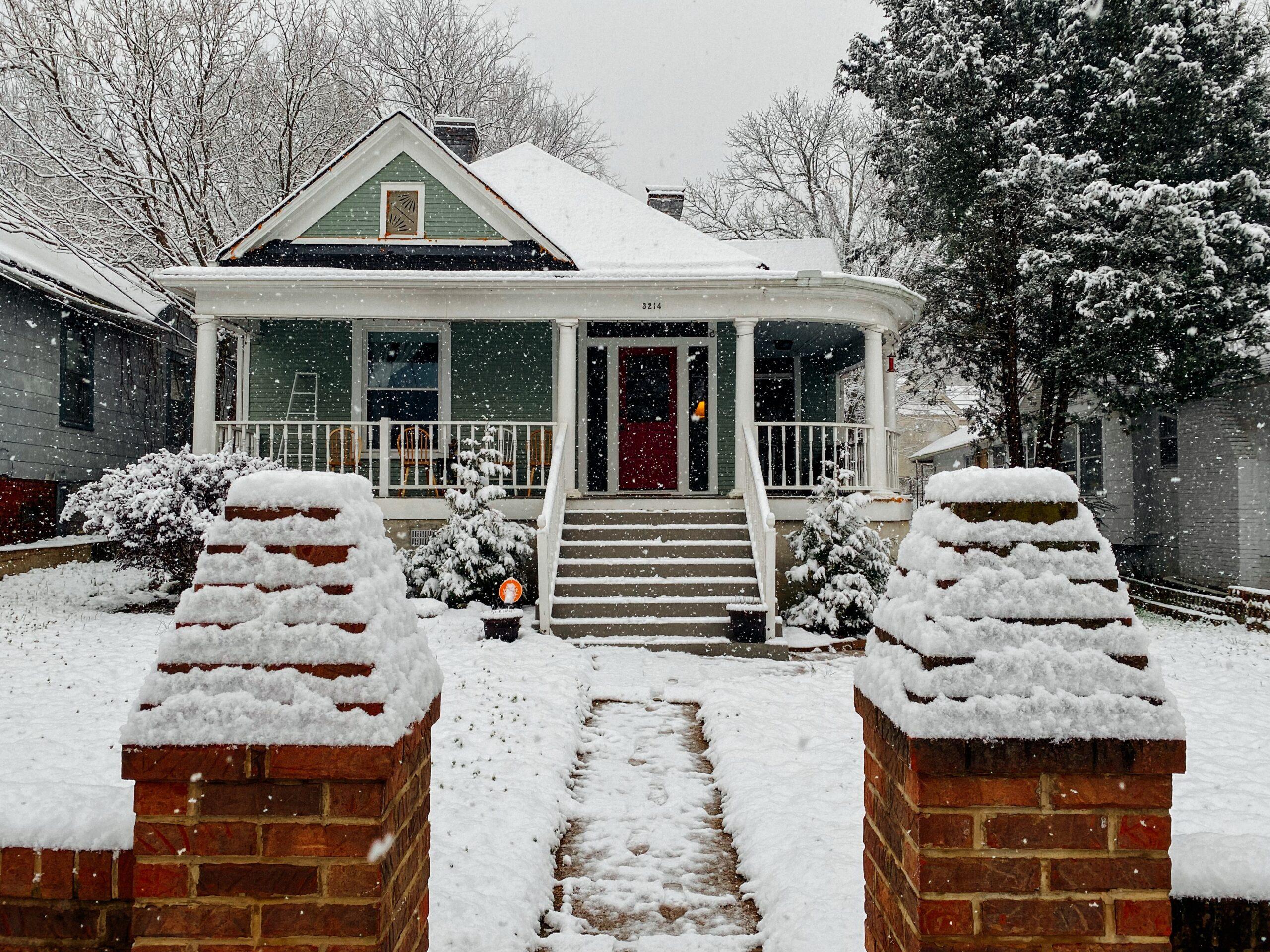 house in wintertime
