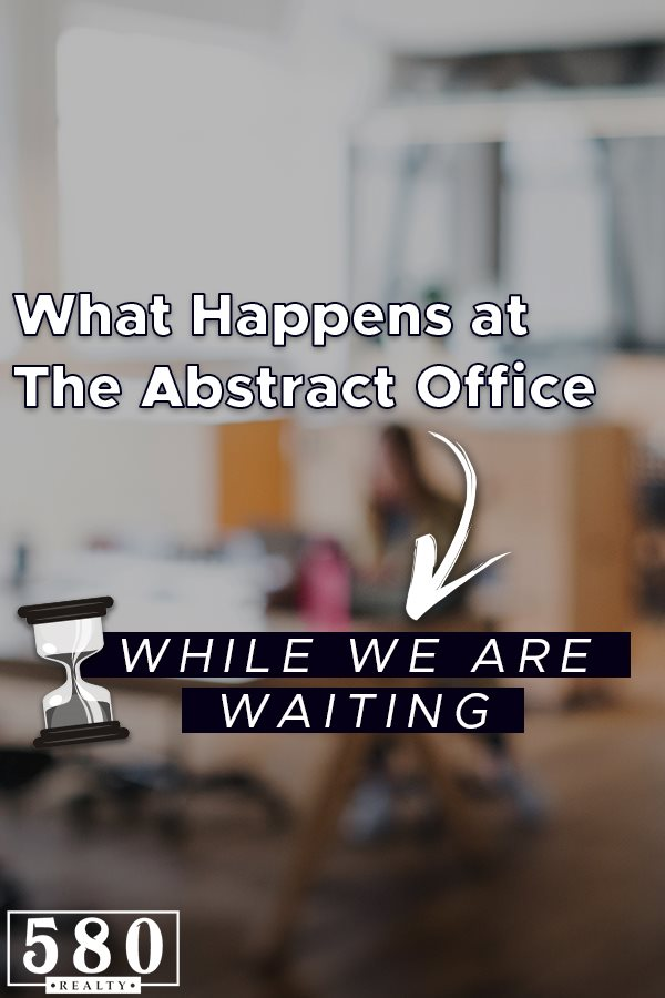 What happens at the abstract office while we are waiting