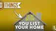 20 Things to Do Before You List Your Home
