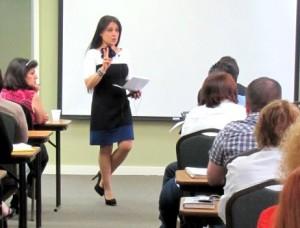 Patty Da Silva Teaching Class