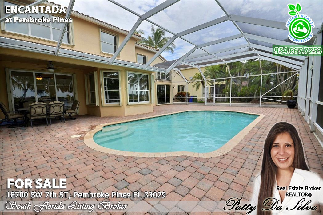 Lakeview Pool Home in Encantada Pembroke Pines FL for Sale
