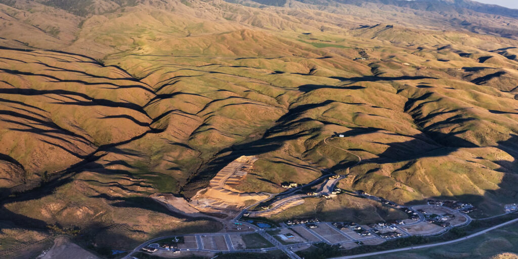 Boise foothills subdivision
