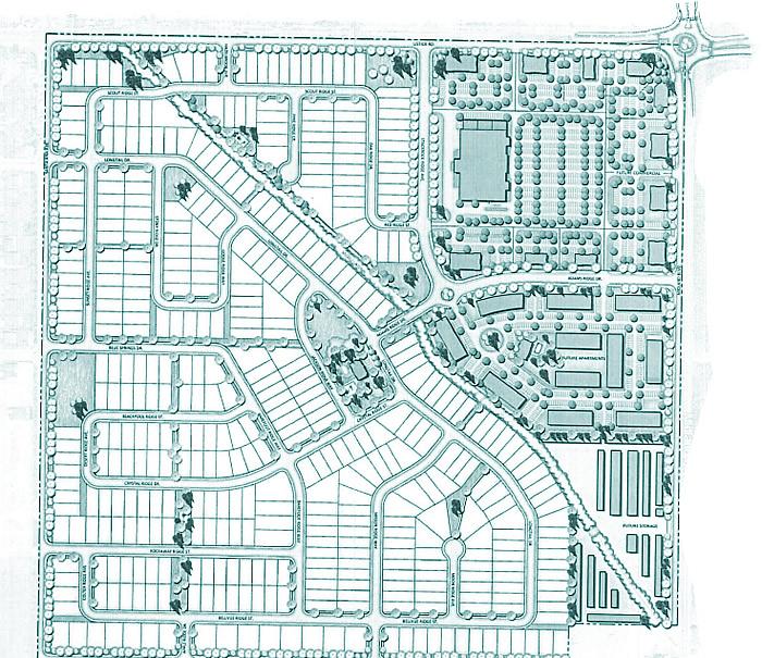 Plat map for Adams Ridge subdivision in Nampa, Idaho. Phot by Build Idaho