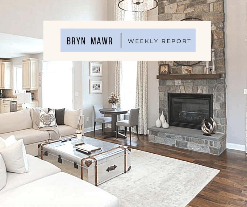 Bryn Mawr homes for sale weekly report