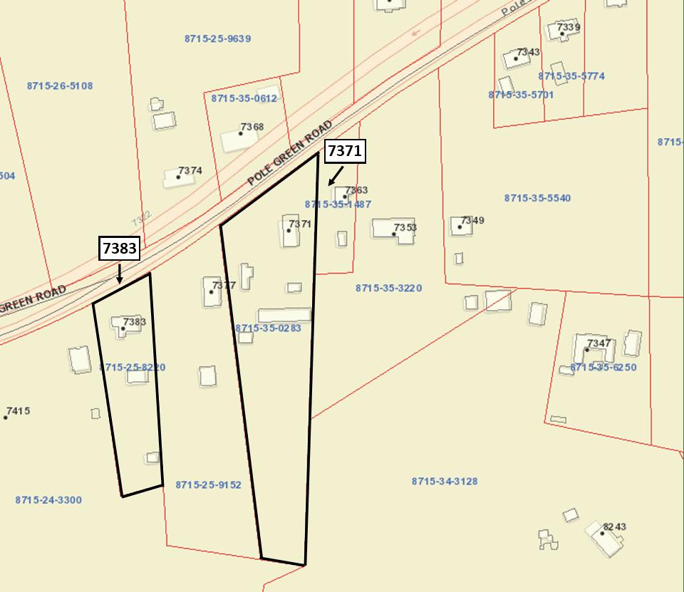 Pole Green Road Tax Map