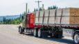Semi Truck with a load of lumber