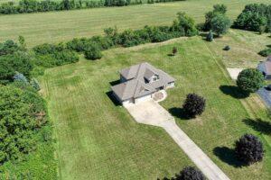 Drone photography showing neighborhood